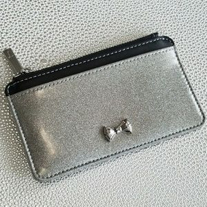 Glitter Patent Leather Coin Purse Silver